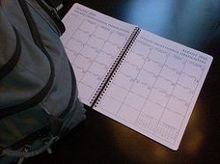 Large Month Shift Planner